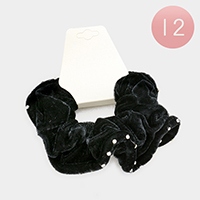 12 PCS Rhinestone Velvet Scrunchie Hair Bands