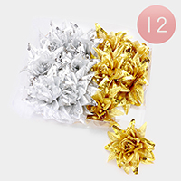 12 PCS Oversized Flower Hair Bands
