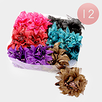 12 PCS Oversized Flower Hair Claw Clips