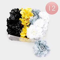 12PCS - Oversized Flower Hair Claw Clips