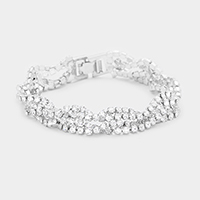 Twisted Marquise Evening Bracelet