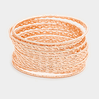 15 Layers Mixed Metal Bangle Bracelets