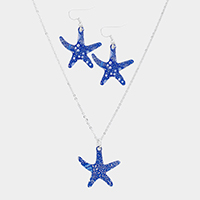 Patterned Starfish Pendant Necklace