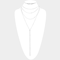 Layered Chain Y Shaped Necklace