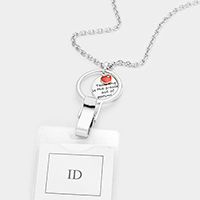Apple Charm ID Holder