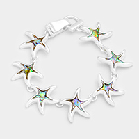Abalone Starfish Link Magnetic Bracelet