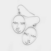 Metal Face Earrings