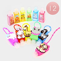 12 PCS Animals Silicone Hand Sanitizer Holder
