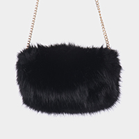 Faux Fur Hand Warmer Muff Clutch Bag