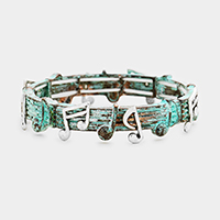 Metal Notes Stretch Bracelet