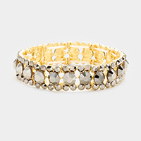 Marquise Bubble Stone Trim Stretch Bracelet