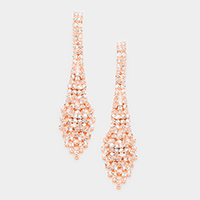 Marquise Rhinestone Evening Earrings
