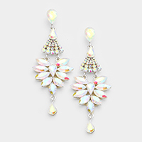 Marquise Chandelier Evening Earrings