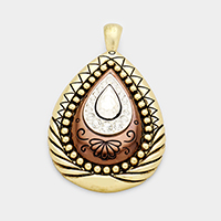 Embossed Antique Teardrop Magnetic Pendant