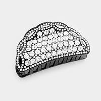 Pave Crystal Half Round Hair Claw Clip
