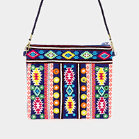 Ethnic Embroidery Multi Color Clutch Bag
