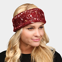 Fleece Lined Cable Knitted Headband