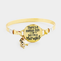 Mermaid Metal Disc Charms Hook Bracelet