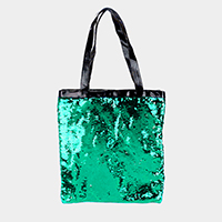 Reversible Sequin Mermaid Tote Bag