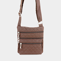 Faux Leather Small Crossbody Bag
