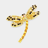 Stone Pave Dragonfly Pin Brooch