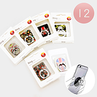 12PCS -Cell Phone Skull Ring Holder