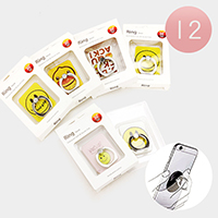 12 PCS -Cell Phone Emoji Ring Holder