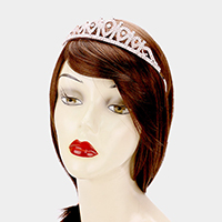 Pave Crystal Rhinestone Teardrop Pageant Queen Tiara
