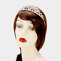 Pave Crystal Rhinestone Triangle Pageant Queen Tiara