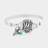 Gypsy Soul Metal Disc Charms Hook Bracelet