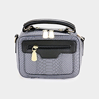 Crocodile Skin Tassel Crossbody Bag