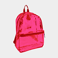 Front Pocket Clear Backpack