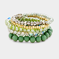 5 Layers Multi Beaded Stretch Bracelet
