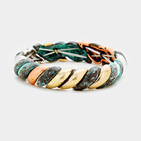 Metal Rope Pattern Stretch Bracelet