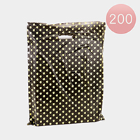 200PCS - Large Polka Dot Plastic Bags