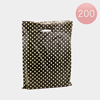 200PCS - Medium Polka Dot Plastic Bags