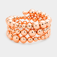 Multi Sized Metal Ball Bracelet