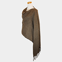 Rugged Solid Sloppy Shawl