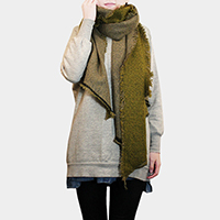 Reversible Solid Bias Cut Scarf