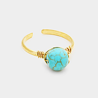 Wire Wrapped Turquoise Ring