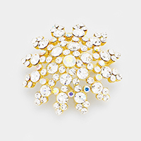Marquise Glass Crystal Snowflake Brooch / Pendant
