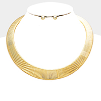 Metal Chain Collar Choker Necklace