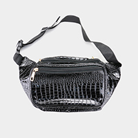 Crocodile Skin Pattern Fanny Pack