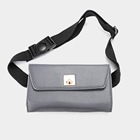 Faux Leather Envelope Fanny Pack