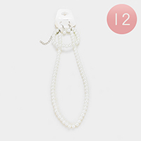 12PCS - Faux Pearl Necklace Set