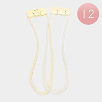 12PCS Faux Pearl Long Necklaces