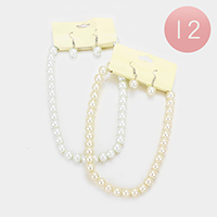 12PCS Faux Pearl Necklaces