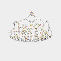Crystal Rhinestone Happy Birthday Mini Party Tiara