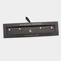 Secret Box _ 14K Gold Dipped CZ North Star Necklace