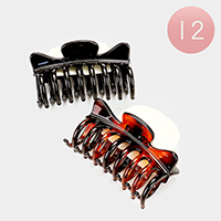 12 PCS - Simple Hair Claw Clips